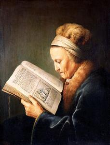Rembrandt's Mother reading a lectionary